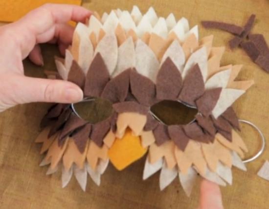 готовая основа будущей маски совы