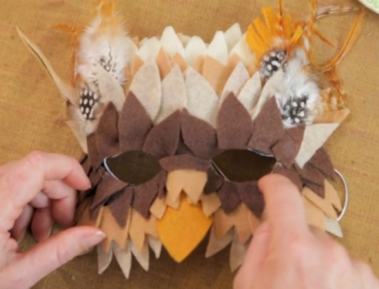 Как сделать эффектную маскарадную маску совы, а также других птиц и зверей