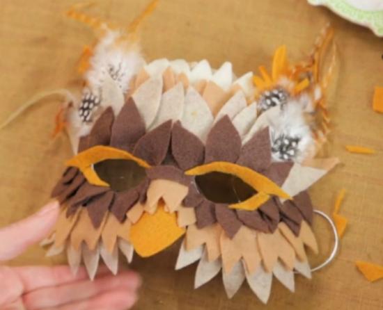 готовая эффектная маска совы