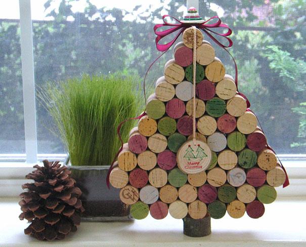 Новогодние елочки из винных пробок - другой дизайн и принцип складывания