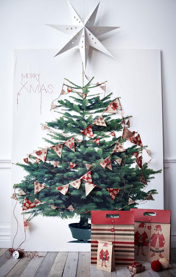 Как сделать новогоднюю елку своими руками: плоские елки - иукрашаем большой плакат с елкой