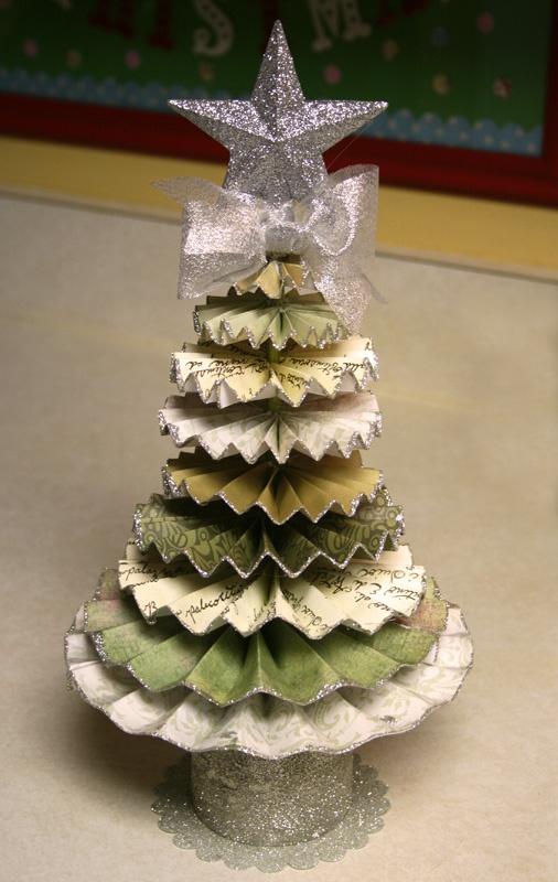 Как сделать новогоднюю елку своими руками: елки из бумаги - из кругов, сложенных из полосок бумаги гармошкой
