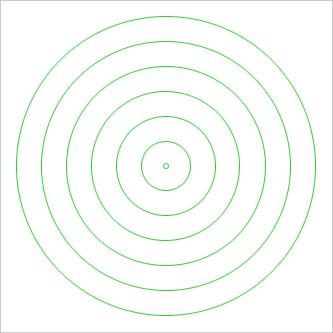 Вам понадобится верхняя основа, на которую можно было бы навешивать шары ровными расширяющимися кругами
