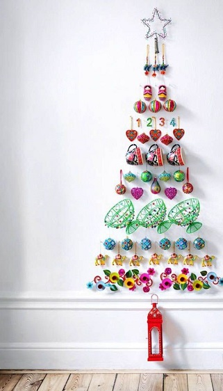 Как сделать новогоднюю елку своими руками: плоские елки - выложенные на стенах (или больших жестких основах) памятными вещами от мягких игрушек-подвесок до фотографий в рамках и детских рисунков, открыток, рукодельных предметов и небольших обычных игрушек