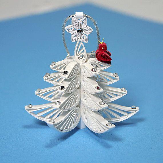 Новогодняя елка в технике квиллинг
