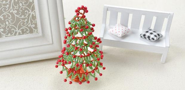 Как сделать новогоднюю елку своими руками: из бисера и проволоки