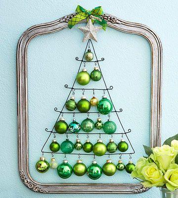 Как сделать новогоднюю елку своими руками: плоские елки - из шаров, плоские елки в раме, тренд