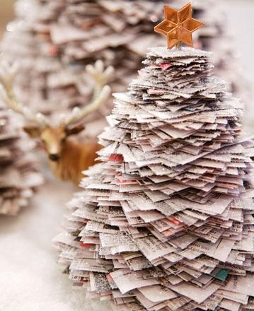 Как сделать новогоднюю елку своими руками: елки из бумаги - из квадратов из газет и журналов