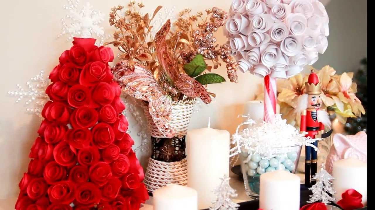 Здесь на конусе также создается новогодняя елочка из роз