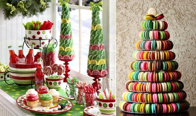 Как сделать новогоднюю елку своими руками: съедобные елки на стол - из пирожных Макарон и лимонных долек