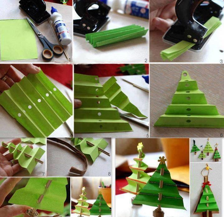 Как сделать новогоднюю елку своими руками: елки из бумаги - елки-паруса из бумаги гармошкой