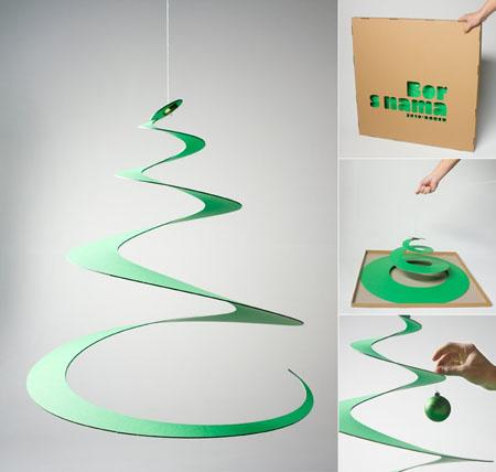 Как сделать новогоднюю елку своими руками: елки из бумаги - из витка кртона или пластика