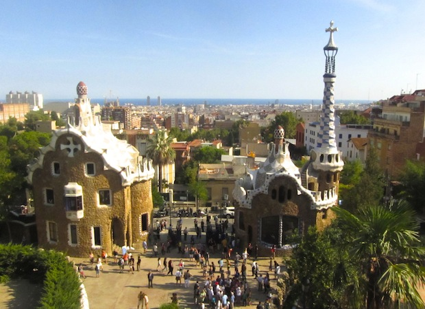 вид с Парк Гуэль Гауди, Барселона
