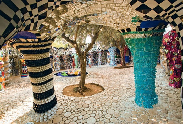 Внутри Парк Гуэль Гауди, Барселона