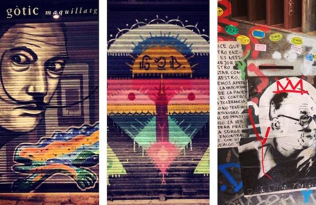Уличное искусство, стритарт, Барселона