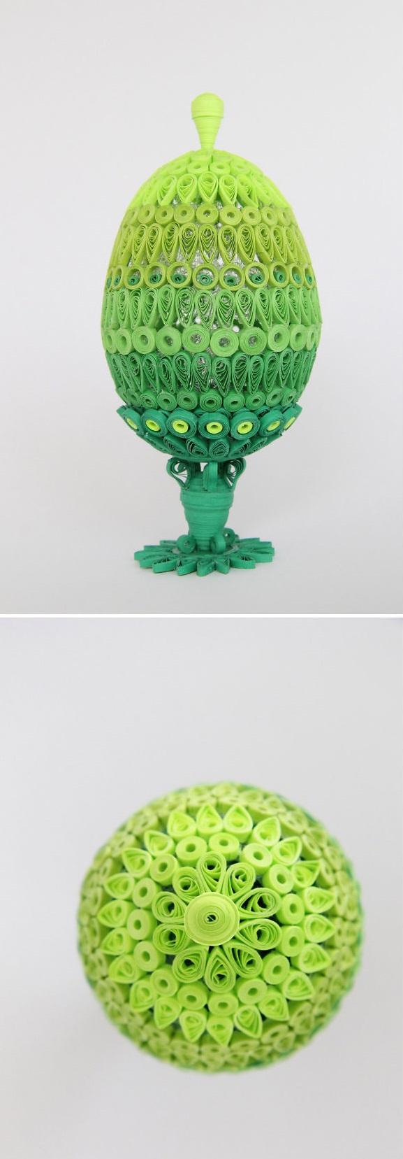 оригинальное и креативное окрашивание и декорирование яиц на Пасху: квиллинг