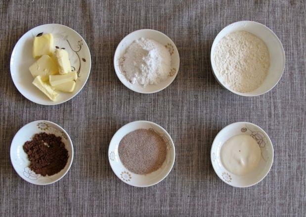 Как приготовить нежные кофейные печенья в виде кофейных зерен - ингредиенты