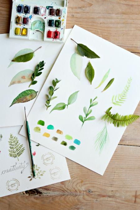 Как научиться профессионально рисовать листья акварелью