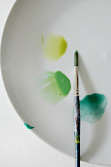 палитра для рисования листьев акварелью