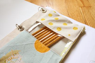 кармашек для карандашей из ткани в офисную папку