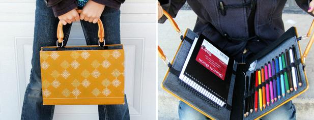 Носите папку вместо сумки или рюкзака на различные курсы