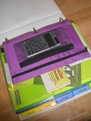 мешочек для калькулятора в офисной папке