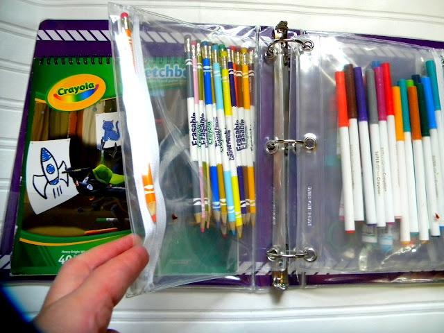 пластиковое отделение для фломастеров и карандашей в офисой папке