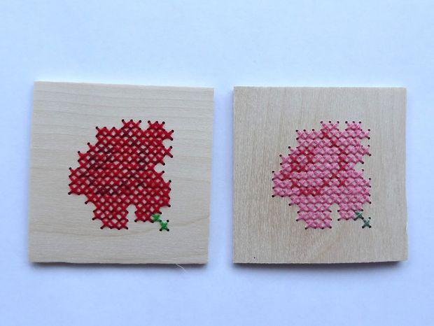 вышивка крестиком по дереву