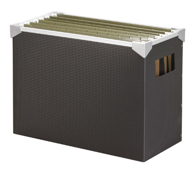 настольная коробка с файлами - с отделениями внутри