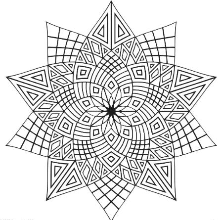 симметричные геометрические узоры для раскраски