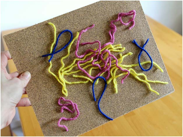 Вы знали, что нитки пряжи прилипают к крупнозернистой наждачной бумаге
