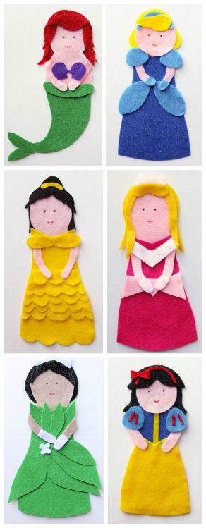 Диснеевские принцессы из фетра