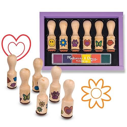 Набор детских печатей - смайлики и цветочки