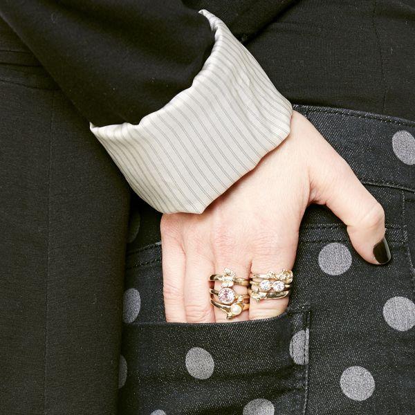 модный тренд 2014: однотипные кольца в несколько уровней