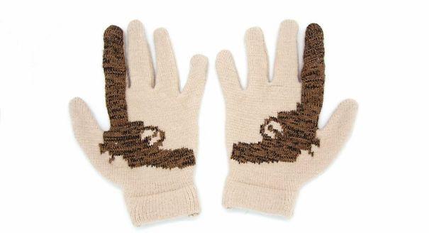 креативные варежки и перчатки для взрослых и детей: перчатки с пистолетами внутри