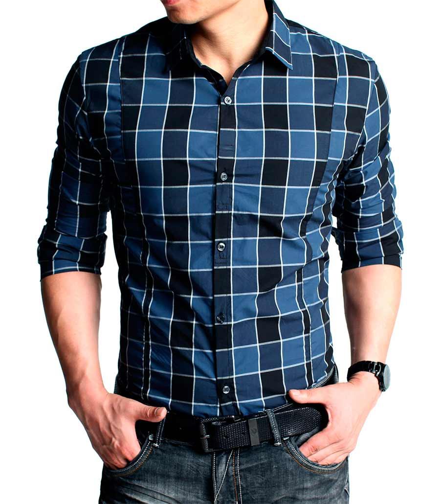 как выбрать модную мужскую рубашку: нестандартная графичная клетка, но из оттенков одного семейства