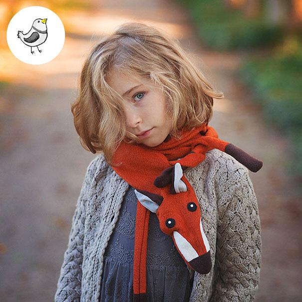 осенне-весенние шарфы-лисички в вечно модном стиле «маленькой сиротки»