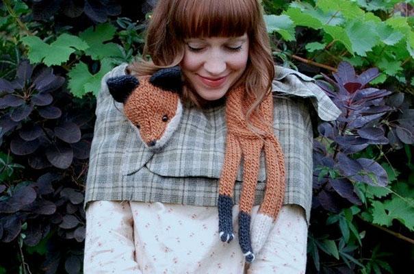 оригинальные зимние шарфы - аля лисье манто