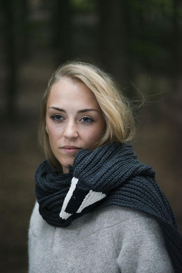 оригинальные зимние шарфы - шарф-барсук