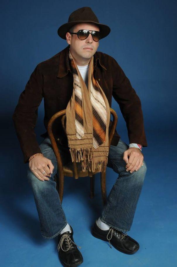 оригинальные самодельные тканевые шарфы - шарф с галстуком для мужчин