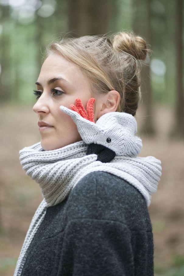 оригинальные зимние шарфы - шарф-какаду