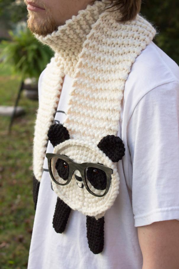 оригинальные зимние шарфы - хипстерская панда