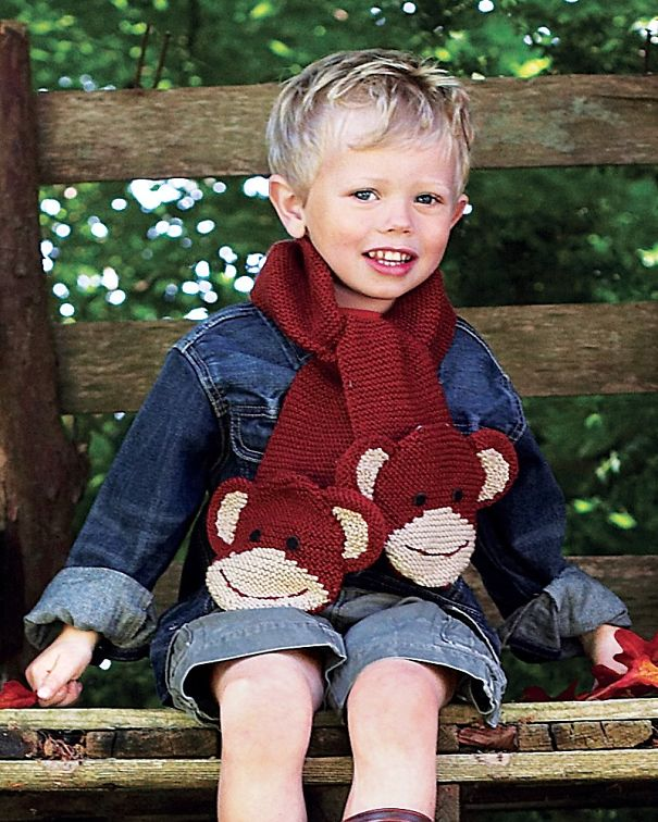 оригинальные зимние шарфы - плоские мартышки