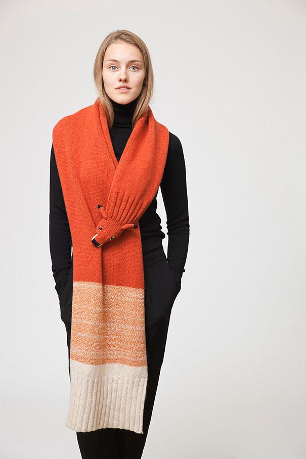 оригинальные зимние шарфы - лисица, шарф-палантин