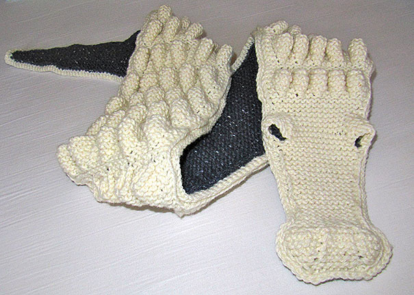 оригинальные зимние шарфы - шарфы-крокодилы