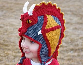 Шапки драконы: вязаная, из анимэ