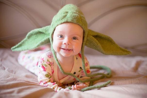 Вяленая шапочка в виде головы Йоды (герой «Звездных войн») для малыша