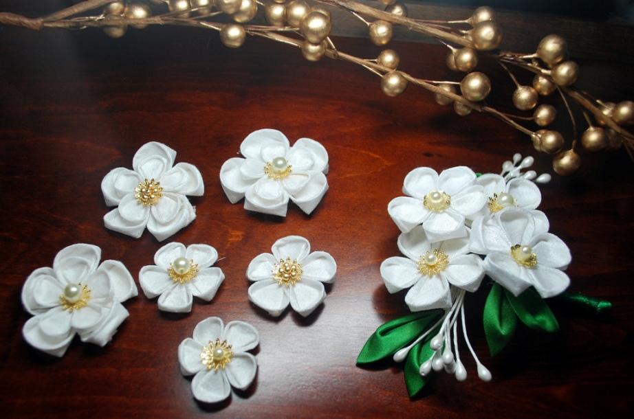Канзаши своими руками цветы