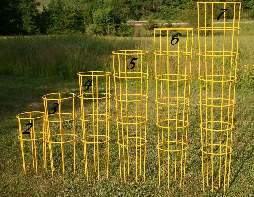 клетки-шпалеры для выращиваняи помидор - разные размеры