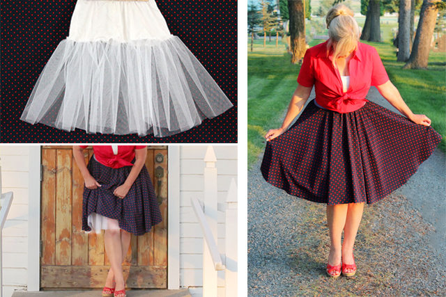 Как сшить подъюбник-«кринолин» своими руками: пышная нижняя юбка в стиле 50-60-х